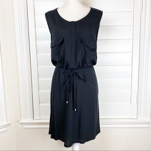 H&M black dress hi-low
